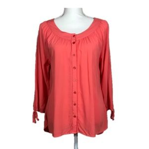 Grand & Greene Coral Blouse Size S